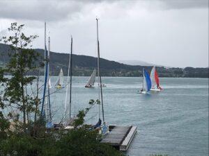 Zusammenkunft der Boote nach 1,5h in Alexenau